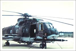 Major Bob Grisnik and his HH-3E Helicopter